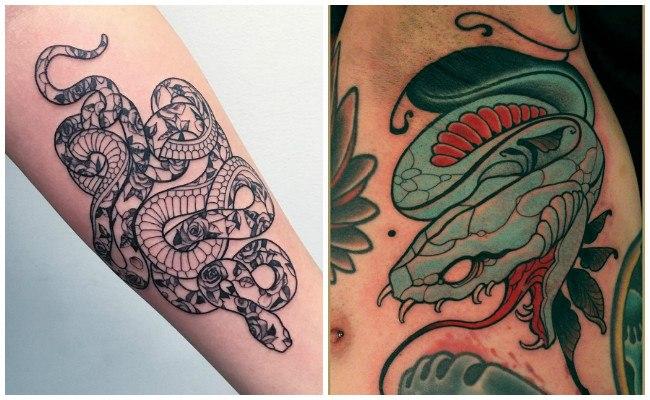 Tatuajes de serpientes chinas
