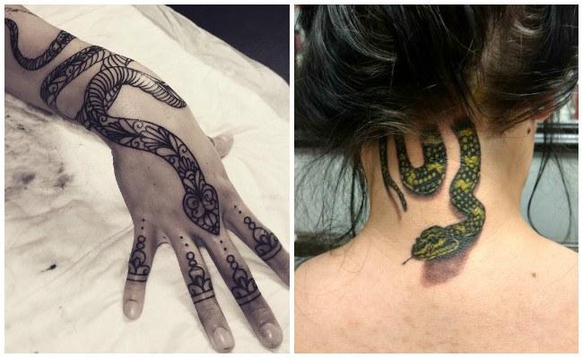 Tatuajes de serpientes de dragones
