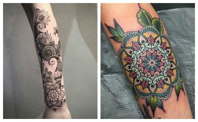 Símbolos de mandalas para tatuajes