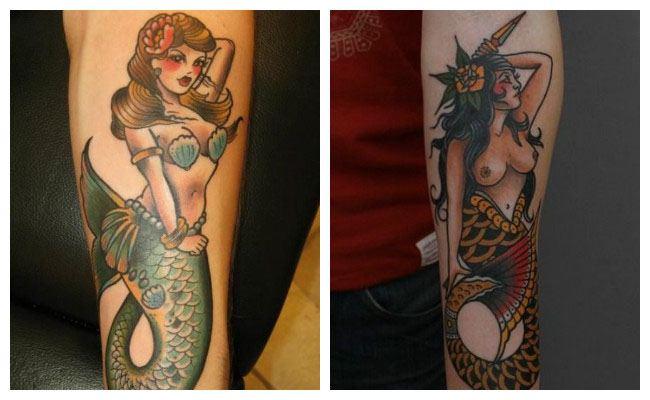 Tatuajes pin up sirenas