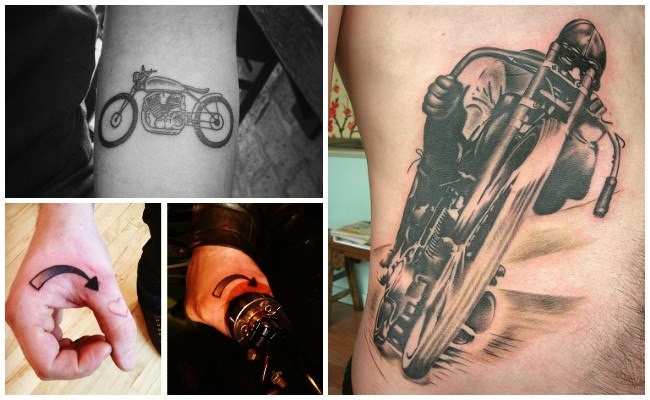 Tatuajes sobre motos