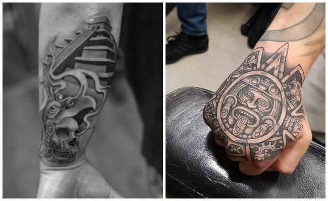 Tatuajes de sol azteca