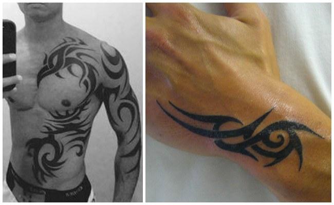 Tatuajes tribales en la espalda