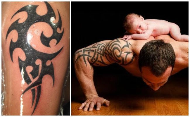 Tatuajes tribales en la pierna