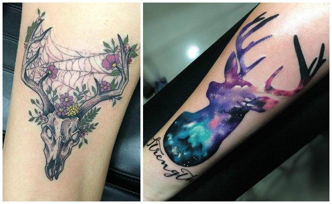 Tatuajes de venados a color