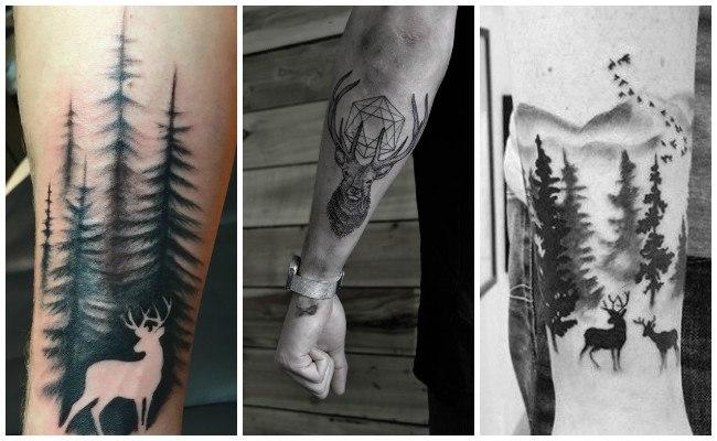 Tatuajes de venados en la pareja