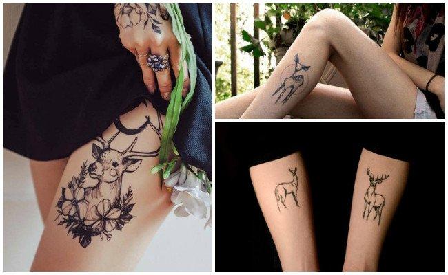 Tatuajes de venados geometricos