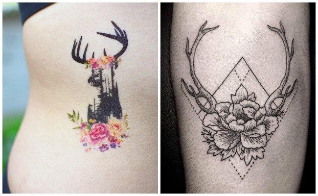 Tatuajes de venados hipster