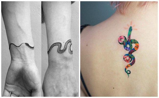 Tatuajes de víboras y serpientes