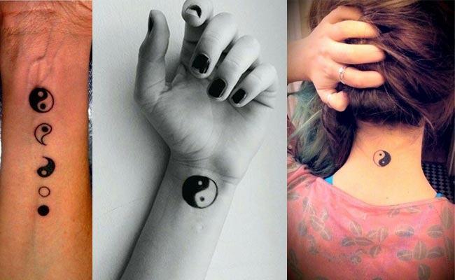 Tatuaje pequeño del ying yang