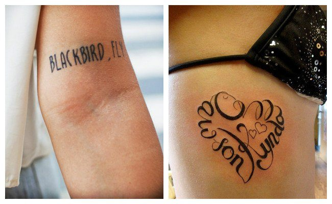 Tatuajes De Letras Para Nombres Y Frases Hombres Y Mujeres