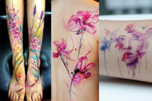 tipos de tatuaje acuarela