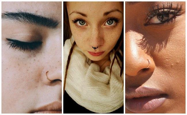 Tipos de piercing en la nariz
