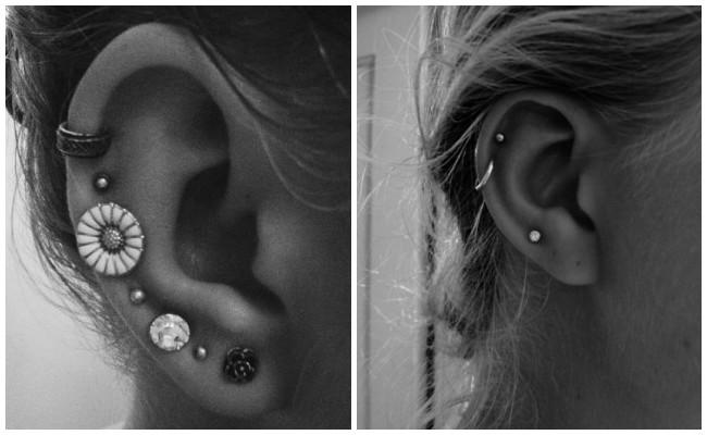 Tipos de piercing en la oreja