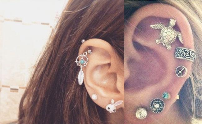 Piercing en la oreja para chicas