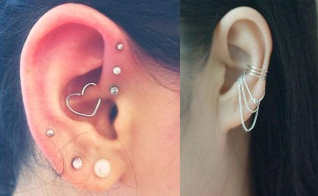 Piercing en la oreja joyería
