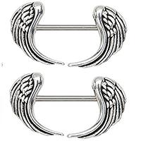 Piercing de alas para el pezón de mujer