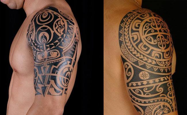 Tatuajes maories en el hombro