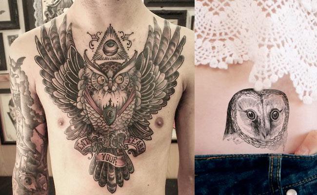 Tatuajes de búhos para hombres y mujeres