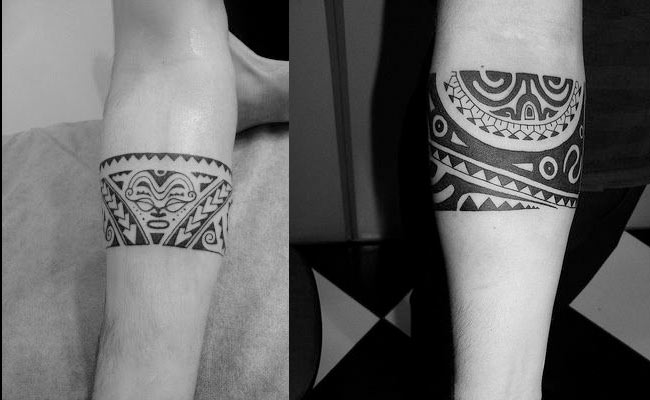 Tatuajes maories de brazaletes