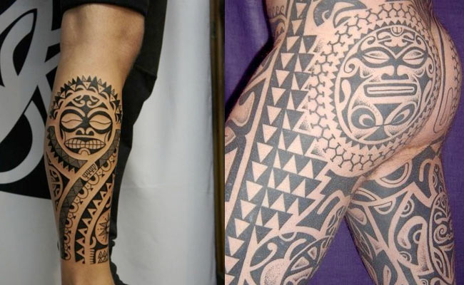 Tatuajes polinesios maoris para hombres
