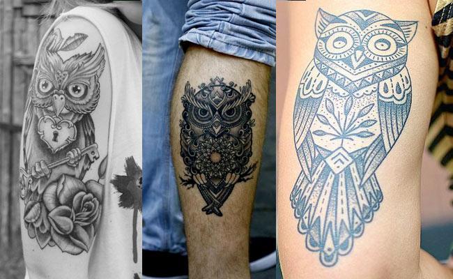 Diseños de tatuajes de búhos para mujeres y hombres