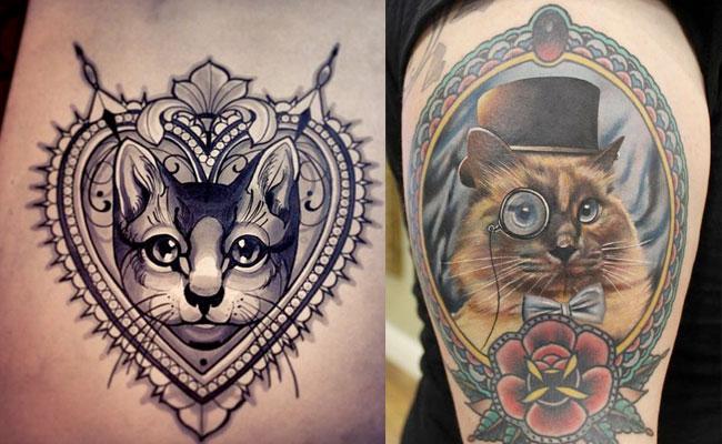 Tatuajes de gatos originales