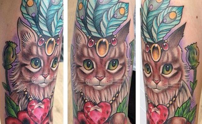 Tatuajes de gatos elegantes