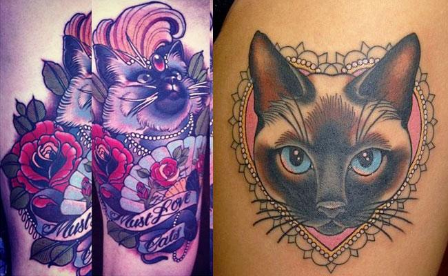 Fotos de tatuajes de gatos y su significado