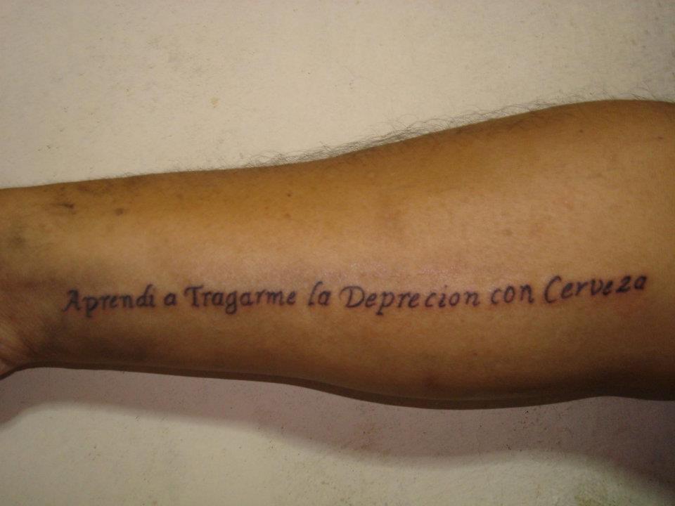 Faltas de escritura en tatuajes