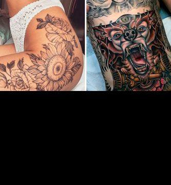 Tatuajes en la cadera y el vientre