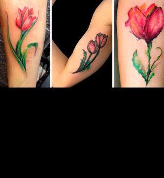 Tatuajes de tulipanes